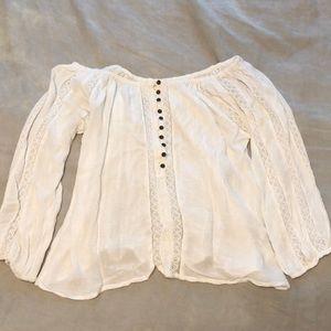 Off the Shoulder, White Shirt